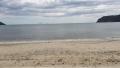 La spiaggia di Galenzana, sullo sfondo un'isola (Giglio?)
