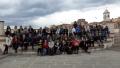 Il gruppo in piazza Matteotti a Capoliveri, alla fine dell'escursione